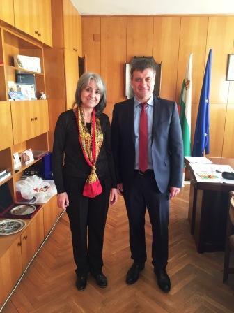 Г-жа Маргарита Попова вицепрезедента на България посети кмета г-н Коев