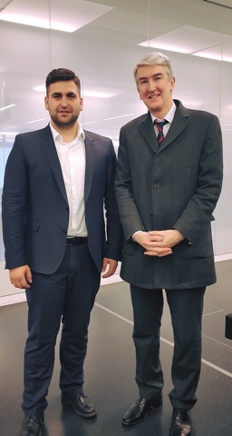 Андрей Новаков (ГЕРБ/ЕНП) и изпълнителният директор на Европейската ресторантьорска асоциация Кристиан дьо Баран разговаряха за промотирането на България като топ дестинация за СПА туризъм