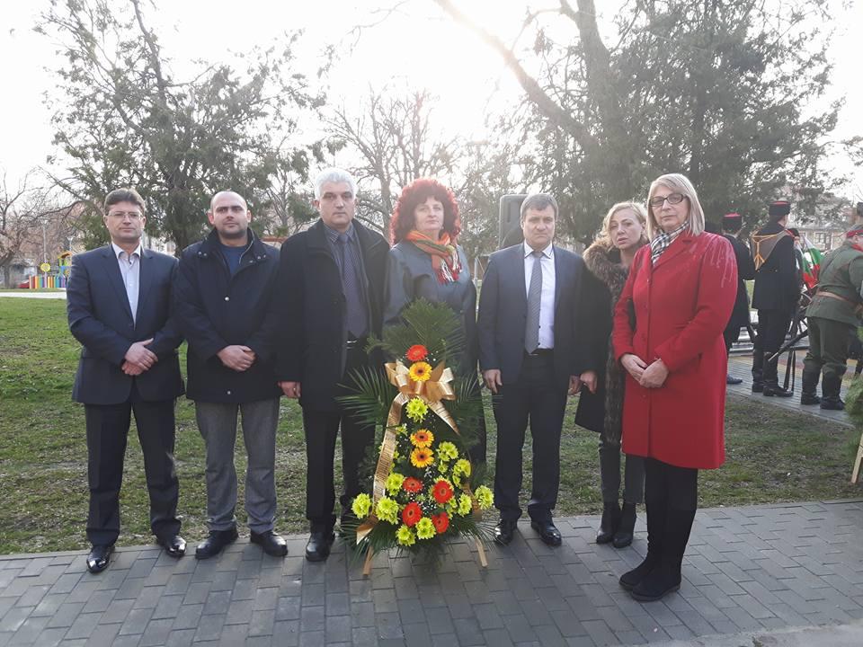 Цветя и венци за руските освободители