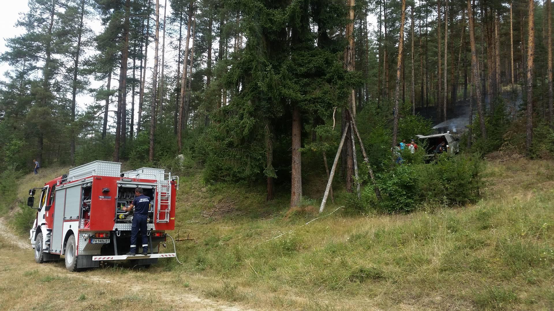 ТИР се самозапалил в района на велинградското село Пашово