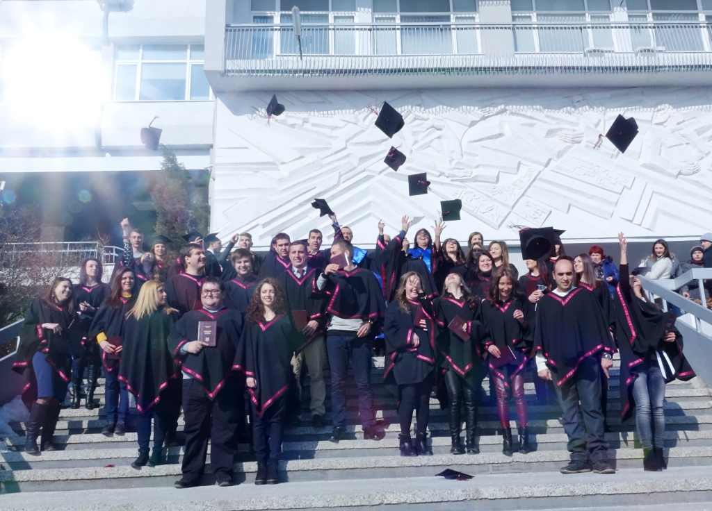 """240 абсолвенти получиха дипломите си от Природо-математическия факултет на ЮЗУ """"Неофит Рилски"""""""