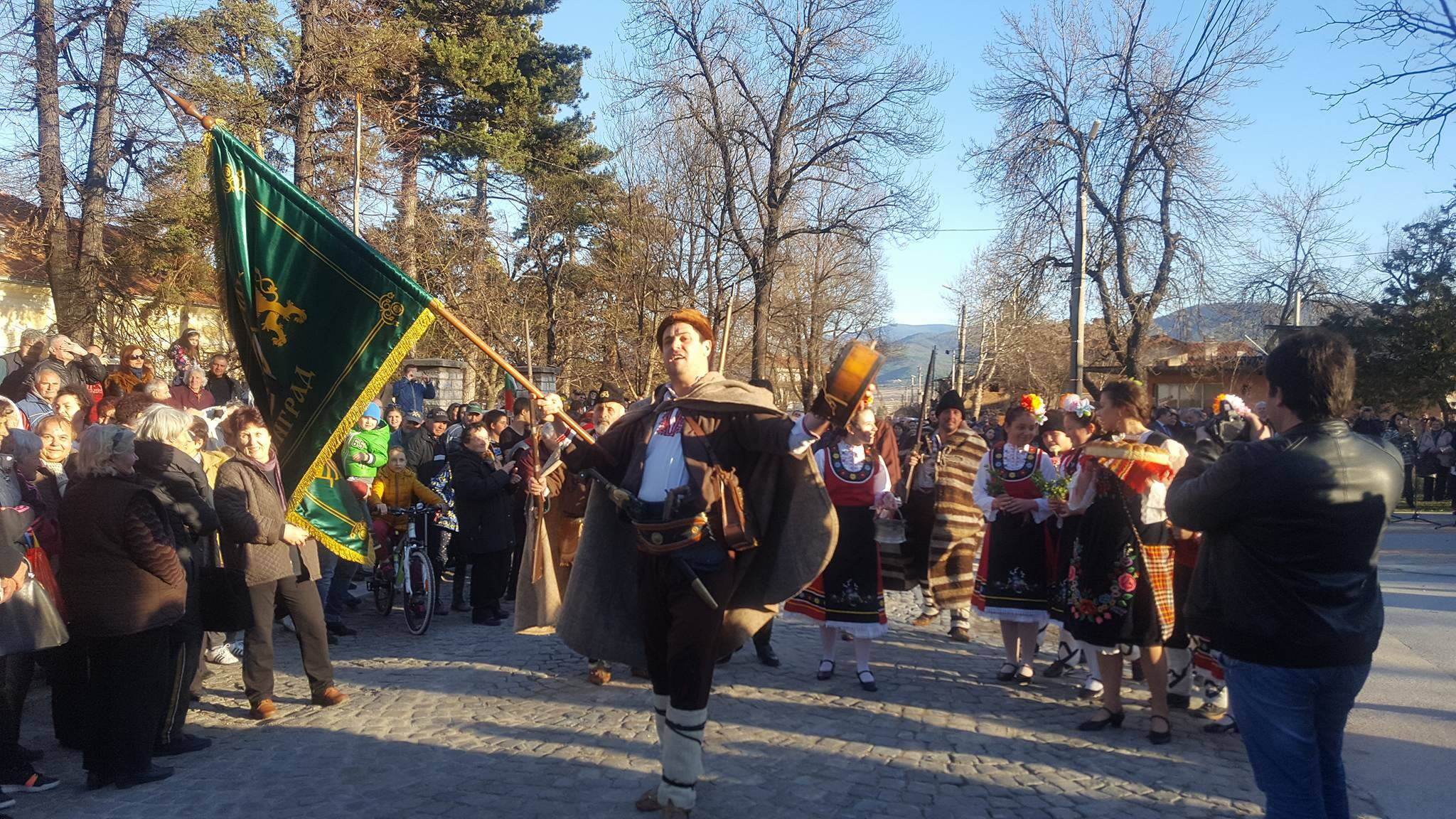 Възстановка  по  посрещане на  Руските  Освободителни  войски  в кв.  Каменица по случай 3 Март