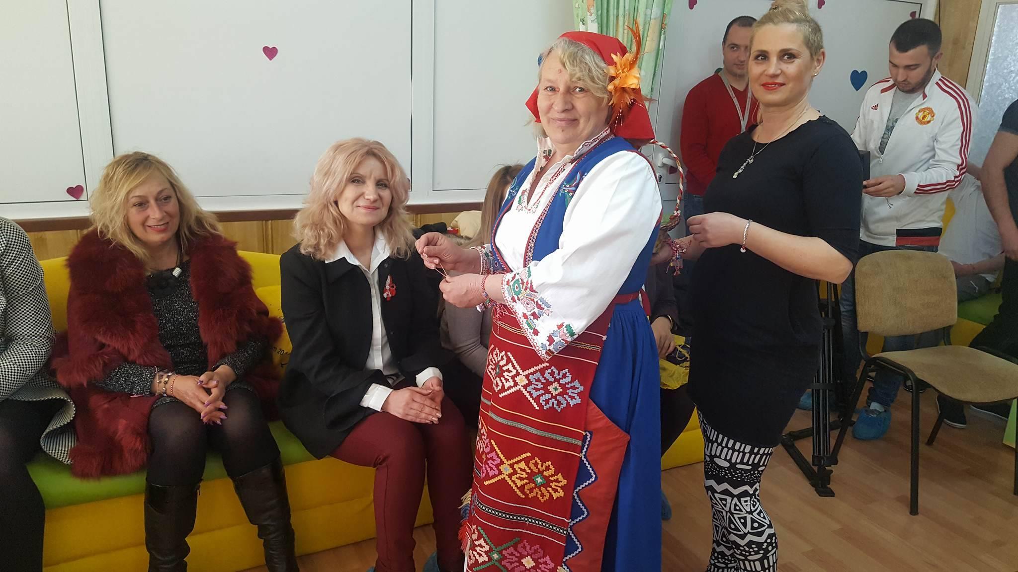 Децата и младежите от ДЦДМУ отпразнуваха пристигането на Баба Марта и настъпването на пролетта