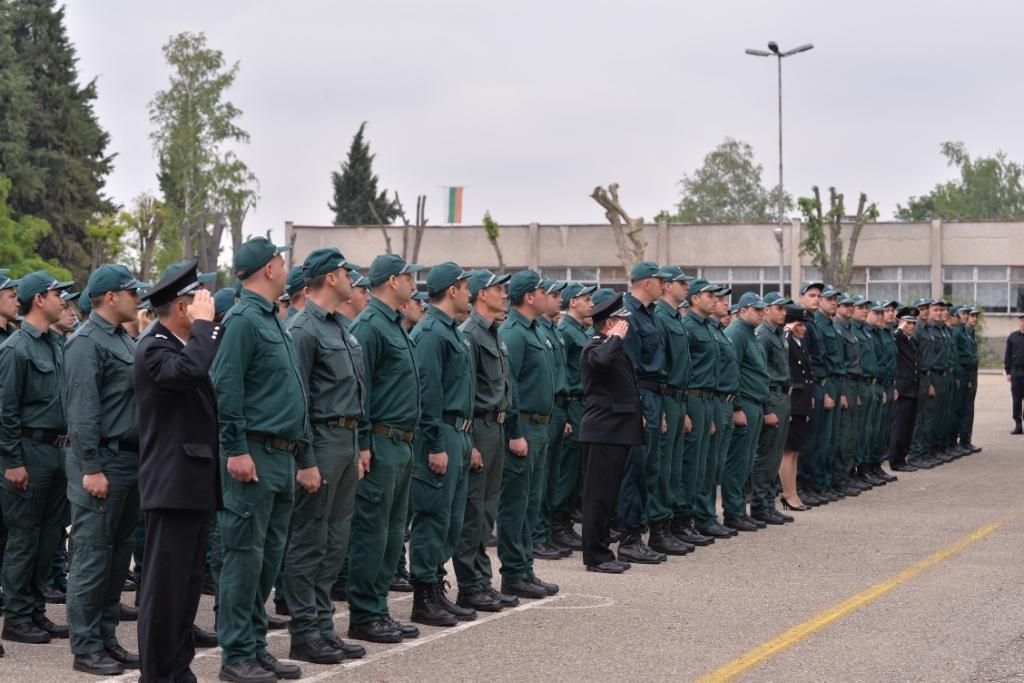 """127 стажанти от Главна дирекция """"Гранична полиция"""" положиха тържествена клетва за спазване нормите на Етичния кодекс на държавните служители в МВР"""