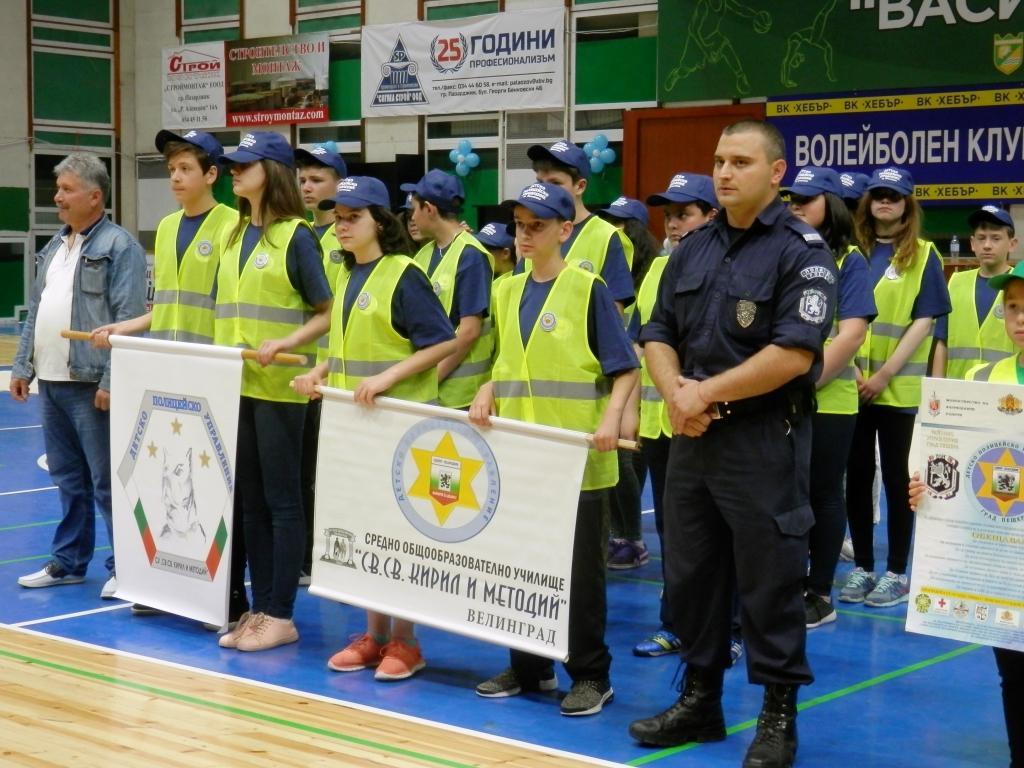 """В Пазарджик се проведе първото областно състезание """"Детско полицейско управление"""" – 2016/2017"""