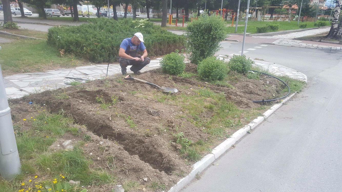 """Автоматична поливна система ще полива зелените площи по бул. """"Съединение"""""""