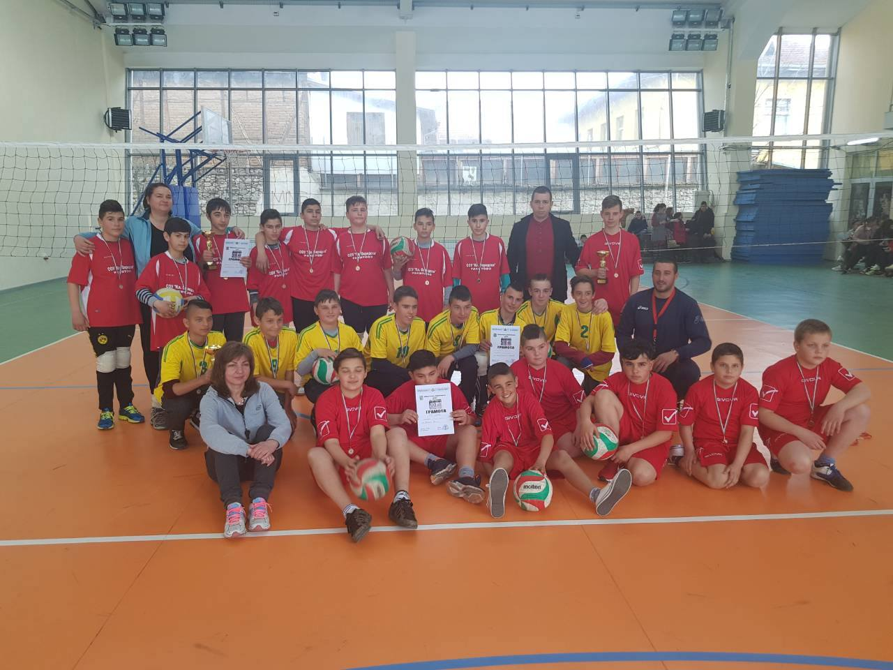 На 27-03-2018 в Спортна зала – гр.Костандово се проведе Общински турнир по волейбол