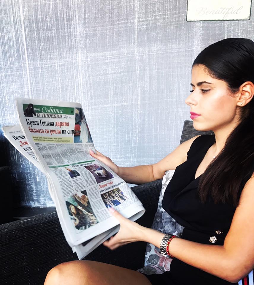 Краси Гешева дарява абитуриентския си тоалет на сираче