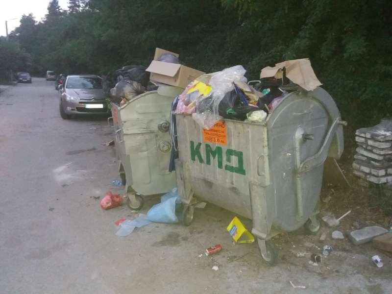 Вашите сигнали: Непочистени кофи за смет в града