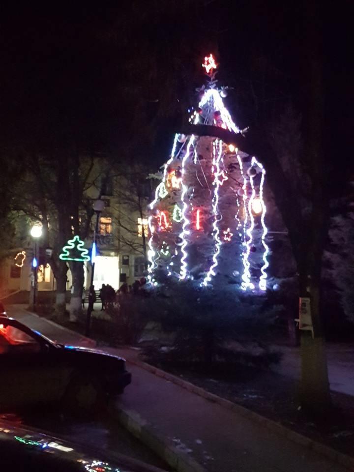 Грейна коледната елха в Ракитово