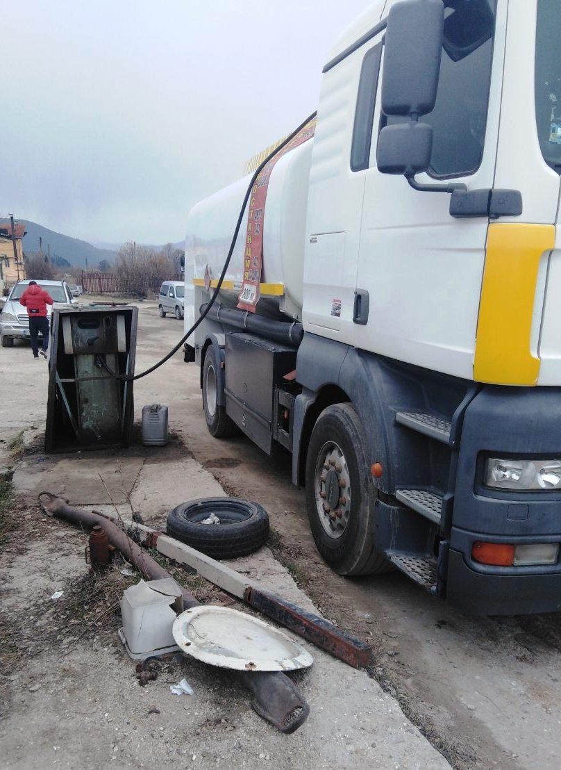 Иззеха незаконно гориво във Велинград