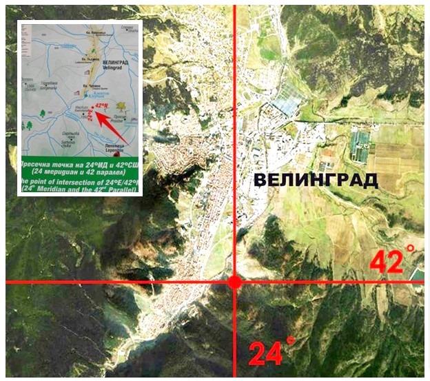 Знаете ли че … В района на Велинград се пресичат 24 меридиан и 42 паралел.