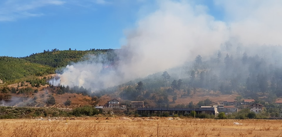 75 дка площи са горели при пожара над Велинград