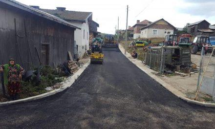 Започна асфалтирането на улици и в село Кръстава