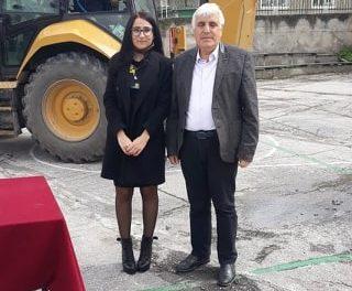 Кметът на община Ракитово Костадин Холянов направи първа копка на многофункционална спортна площадка в училището в с.Дорково