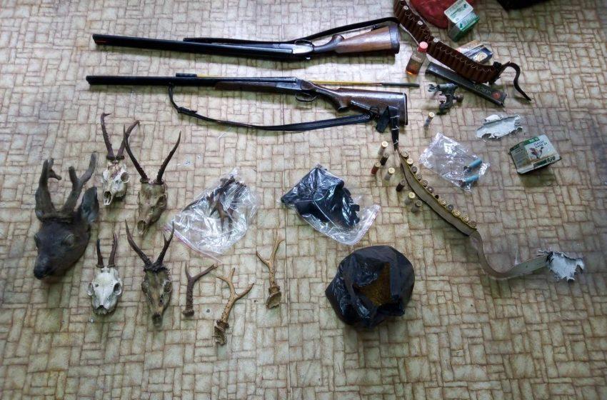 Незаконно оръжие, боеприпаси и дивечово месо с неизяснен произход  бяха открити по време на акция на служители от РУ-Велинград