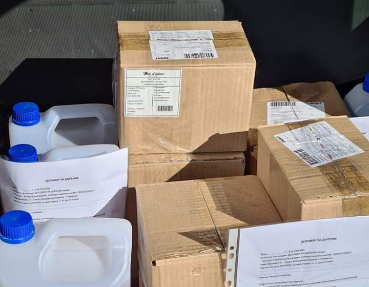Фирма дари дезинфектанти на училища и детски градини в община Ракитово