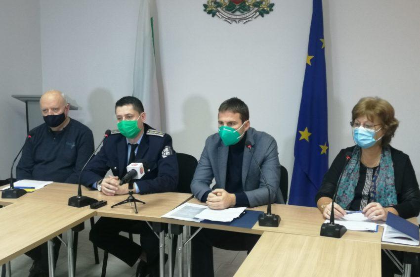 Заседание на Областен кризисен щаб Пазарджик 22-12-2020