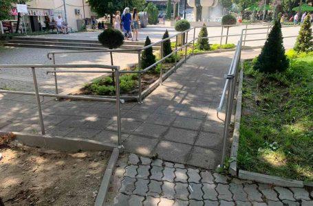 """Възстановен е достъпът по пешеходна алея на пл. """"Н. Гяуров"""" Велинград"""
