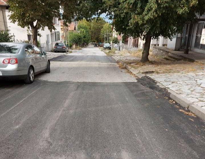 """Извършено е частично асфалтиране на ул. """"Бачо Киро"""" във Велинград"""