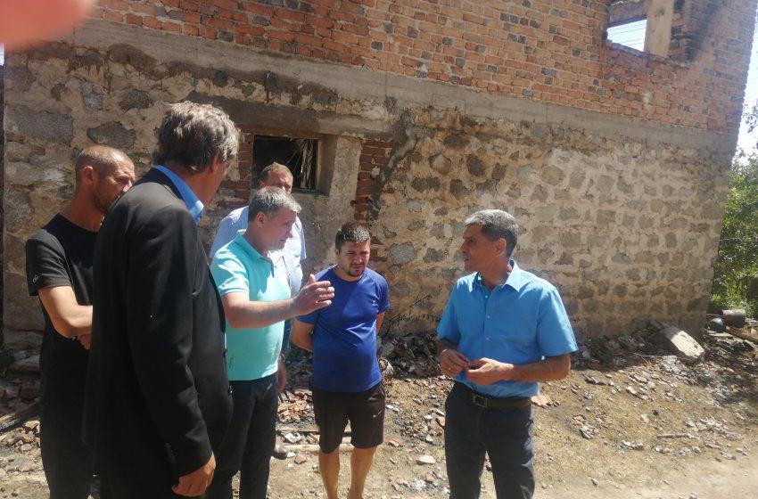 Областният управител се срещна с пострадалите от пожара в с. Кръстава